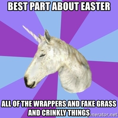ASMR Unicorn - Best part about easter all of the wrappers and fake grass and crinkly things