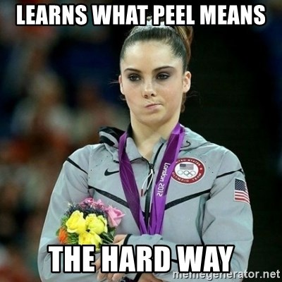 McKayla Maroney Not Impressed - Learns what peel means the hard way
