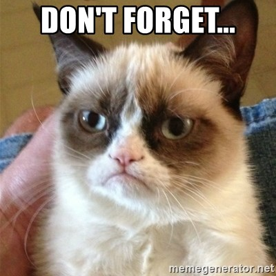 Grumpy Cat  - Don't forget...