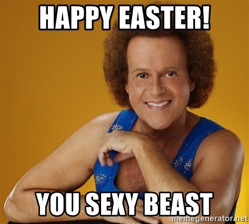 Gay Richard Simmons - Happy Easter! You sexy Beast