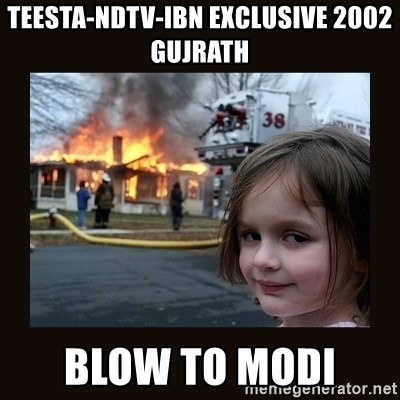 burning house girl - Teesta-NDTV-IBN Exclusive 2002 Gujrath Blow to Modi