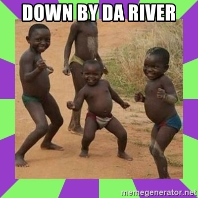 african kids dancing - DOWN BY DA RIVER