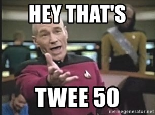 Captain Picard - HEY THAT'S  TWEE 50