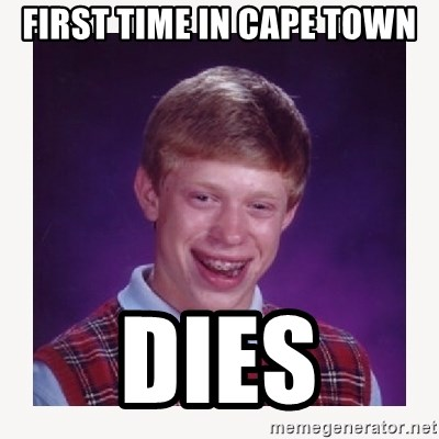 nerdy kid lolz - First time in cape town dies
