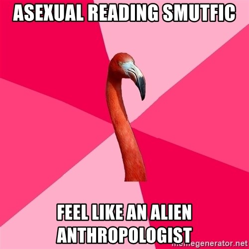 Fanfic Flamingo - Asexual reading smutfic feel like an alien anthropologist