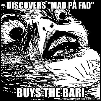 """Surprised Chin - discovers """"mad på fad"""" Buys the bar!"""