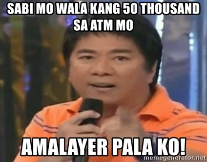 willie revillame you dont do that to me - Sabi mo wala kang 50 thousand sa atm mo amalayer pala ko!