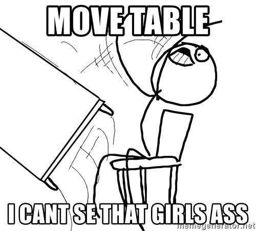 Desk Flip Rage Guy - Move Table  i cant se that girls ass