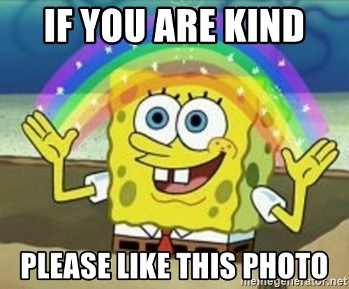Spongebob - If you are kind  Please like this photo