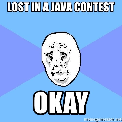 Okay Guy - LOST IN A JAVA CONTEST okay