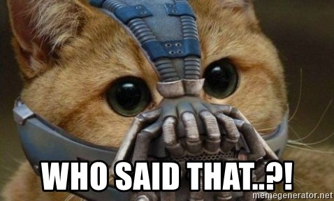 bane cat -  Who said that..?!