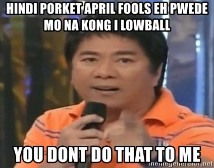willie revillame you dont do that to me - Hindi porket april fools eh pwede mo na kong i lowball you dont do that to me