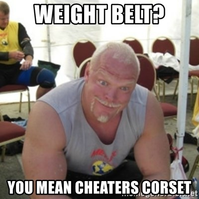 Strongman Samuelsson - Weight belt? You mean cheaters corset