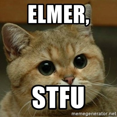 Do you think this is a motherfucking game? - Elmer,  STFU