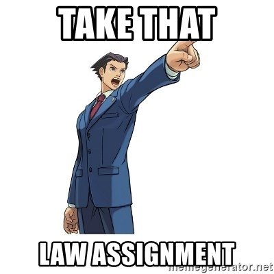 OBJECTION - Take that Law assignment
