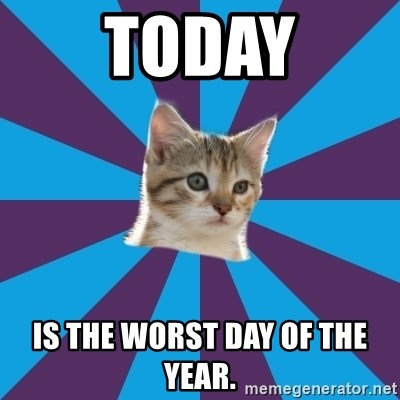 Autistic Kitten - Today is the worst day of the year.