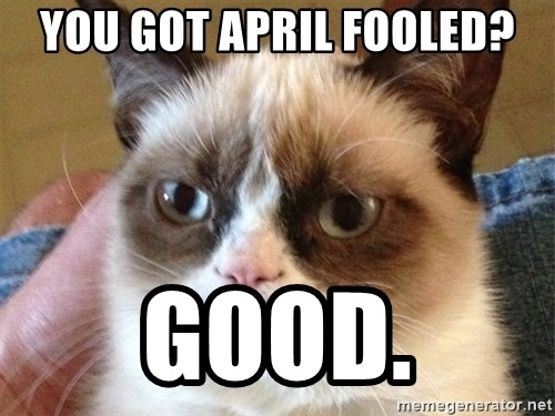 Angry Cat Meme - You got April Fooled? Good.