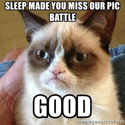 Grumpy Cat  - Sleep made you miss ouR pic battle Good