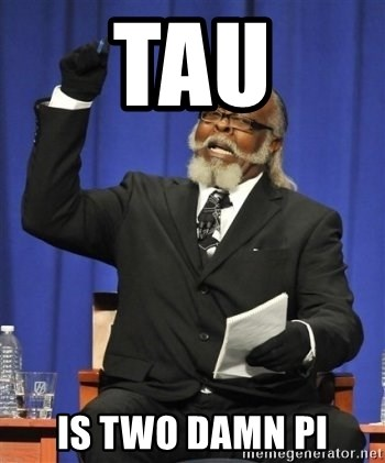 the rent is too damn highh - TAU IS TWO DAMN PI