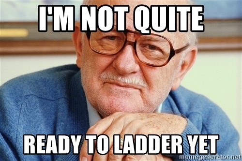 Old Man - i'm not quite ready to ladder yet