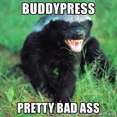 Honey Badger Actual - BuddyPress Pretty Bad Ass
