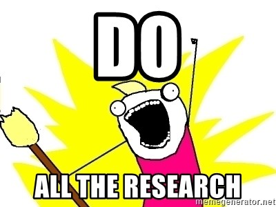 X ALL THE THINGS - DO ALL THE RESEArch