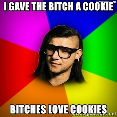 Advice Skrillex - I gave the bitch a cookiE bitches love cookies