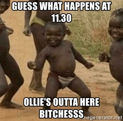 Success African Kid - Guess what happens at 11.30 Ollie's outta here bitchesss