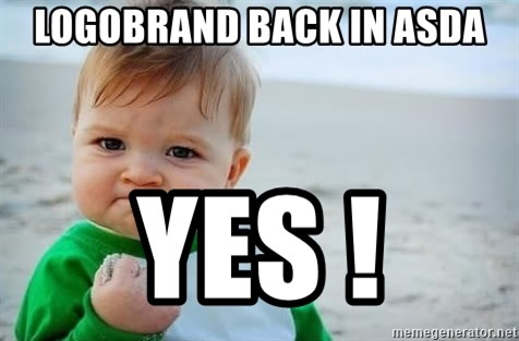 fist pump baby - LogobraNd Back in aSda Yes !