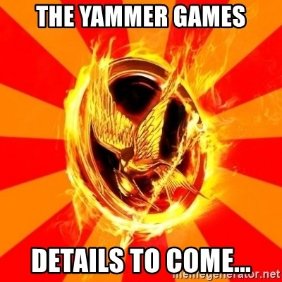 Typical fan of the hunger games - THE YAMMER GAMES DETAILS TO COME...