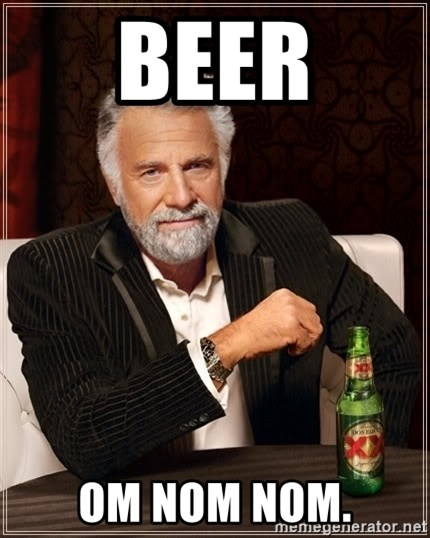 The Most Interesting Man In The World - BEER OM NOM NOM.