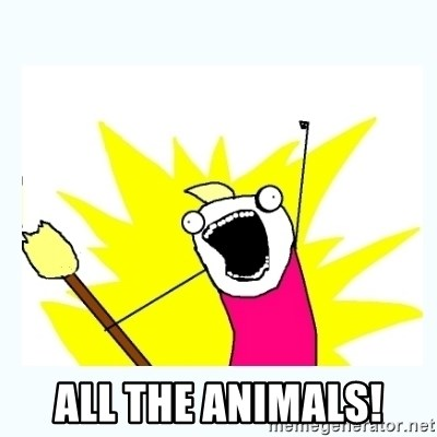 All the things -  All the animals!