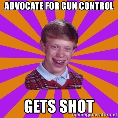Unlucky Brian Strikes Again - Advocate for gun control gets shot