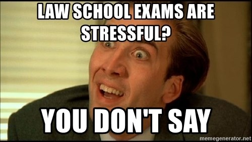 You Don't Say Nicholas Cage - law school exams are stressful? You don't say