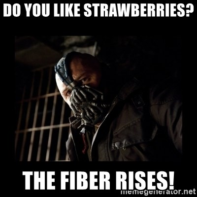 Bane Meme - Do you like Strawberries?  The FIBER RISES!