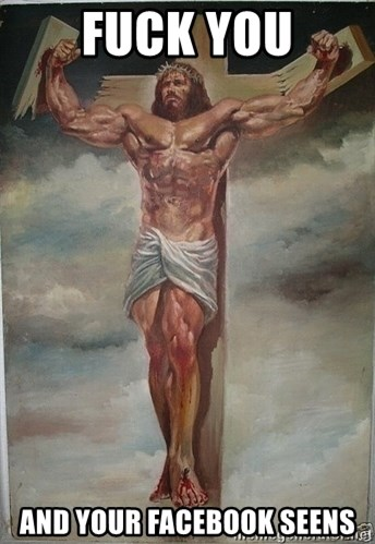 Muscles Jesus - Fuck you and your facebook Seens