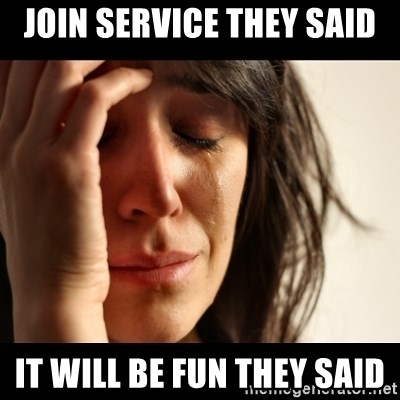 crying girl sad - join service they said it will be fun they said