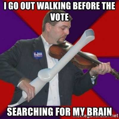 FiddlingRapert - i go out walking before the vote searching for my brain