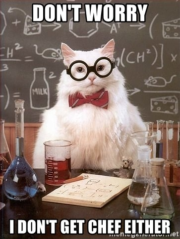 Chemistry Cat - Don't Worry I don't Get Chef Either