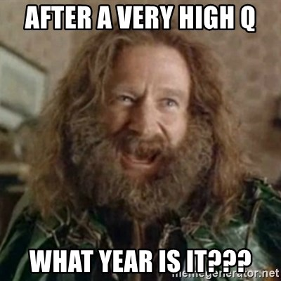 What Year - After a very high Q what year is it???
