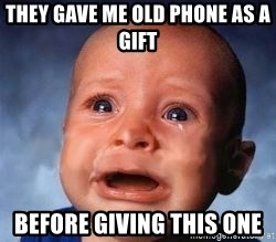 Very Sad Kid - They gave me old phone as a gift before giving this one