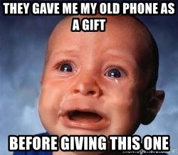 Very Sad Kid - They gave me my old phone as a gift before giving this one