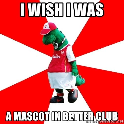 Arsenal Dinosaur - i wish i was  a mascot in better club
