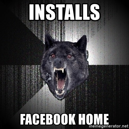Insanity Wolf - installs facebook home