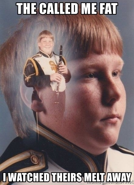 PTSD Clarinet Boy - the called me fat i watched theirs melt away