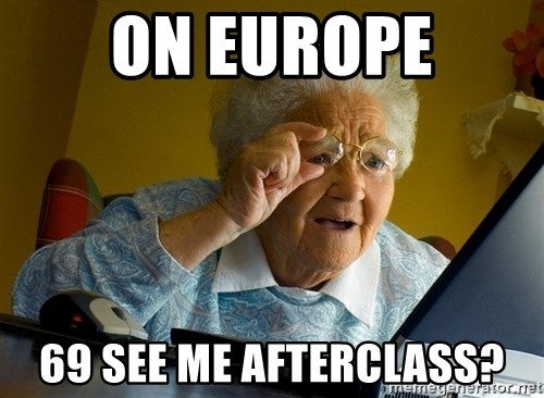 Internet Grandma Surprise - On europe 69 see me afterclass?