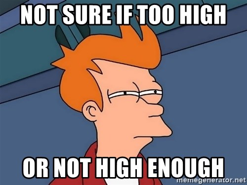 Futurama Fry - Not sure if too high Or not high enough