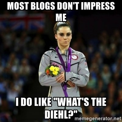 "Unimpressed McKayla Maroney - Most blogs don't impress me I do like ""What's the Diehl?"""