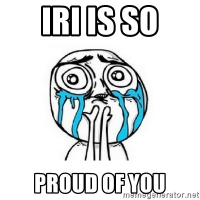 crying - Iri is so proud of you