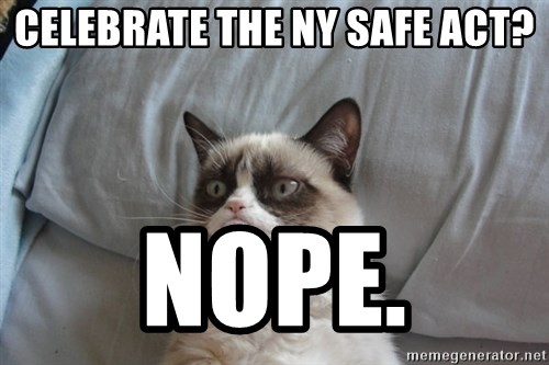 Grumpy cat 5 - Celebrate the NY SAFE ACT? NOPE.